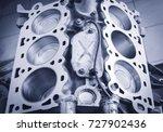 engine block v6 | Shutterstock . vector #727902436