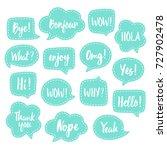 set of vector speech bubbles...   Shutterstock .eps vector #727902478