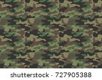 camouflage seamless pattern... | Shutterstock .eps vector #727905388
