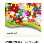 floral background with text... | Shutterstock .eps vector #72790639