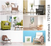 collage with different... | Shutterstock . vector #727914118