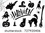 halloween clipart set. hand... | Shutterstock .eps vector #727920406