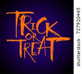trick or treat lettering ... | Shutterstock .eps vector #727920445