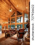A Luxurious Living Room  With...