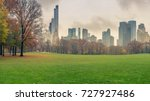 central park at rainy day  new... | Shutterstock . vector #727927486