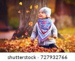 adorable happy baby girl... | Shutterstock . vector #727932766