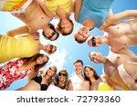 below view of circle of friends ... | Shutterstock . vector #72793360
