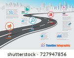 business road map timeline... | Shutterstock .eps vector #727947856