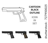 military handgun icon in... | Shutterstock .eps vector #727950025