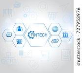 fin tech internet concept. text ... | Shutterstock .eps vector #727953976