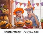 mother and her daughter having... | Shutterstock . vector #727962538
