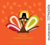 happy thanksgiving day... | Shutterstock .eps vector #727963456