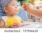 happy little asian baby boy... | Shutterstock . vector #727966618