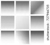 halftone dots vector textures.... | Shutterstock .eps vector #727966735