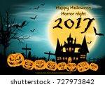 pumpkins   happy halloween... | Shutterstock .eps vector #727973842
