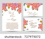 invitation with floral... | Shutterstock .eps vector #727975072