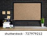 desk space concept. mock up... | Shutterstock . vector #727979212