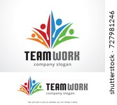 teamwork logo template design... | Shutterstock .eps vector #727981246