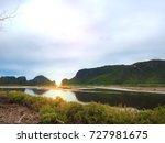 evening sun shines through...   Shutterstock . vector #727981675