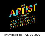vector of abstract colorful... | Shutterstock .eps vector #727986808