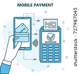wireless payment by mobile... | Shutterstock .eps vector #727987045