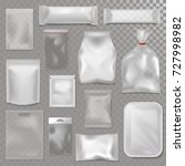 empty plastic bag package... | Shutterstock .eps vector #727998982