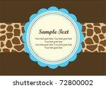 giraffe pattern frame | Shutterstock .eps vector #72800002