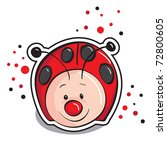 cute ladybug | Shutterstock .eps vector #72800605