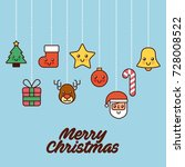 merry christmas card greeting...   Shutterstock .eps vector #728008522