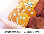 stack of smile biscuits.... | Shutterstock . vector #728010496