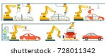 factory with smart robotic... | Shutterstock .eps vector #728011342