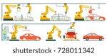 factory with smart robotic... | Shutterstock .eps vector #728011342