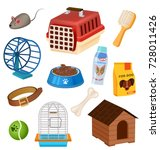 pet shop icons set in cartoon... | Shutterstock .eps vector #728011426