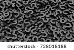 black question marks background.... | Shutterstock . vector #728018188