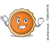 successful pumpkin pie... | Shutterstock .eps vector #728019478