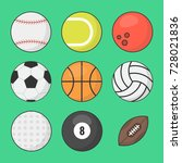 sports balls vector set.... | Shutterstock .eps vector #728021836