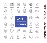 line icons set. cafe pack.... | Shutterstock .eps vector #728023186