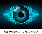 binary circuit board future... | Shutterstock .eps vector #728039182