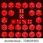 dice  a set of dice  play dice. ... | Shutterstock .eps vector #728039302