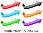 arrow. colored 3d shiny signs.... | Shutterstock .eps vector #728051662