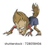 werewolf character vector and...   Shutterstock .eps vector #728058406
