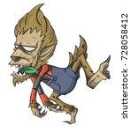 werewolf character vector and...   Shutterstock .eps vector #728058412