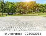 empty floor road and green... | Shutterstock . vector #728063086