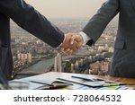 businessman handshake... | Shutterstock . vector #728064532