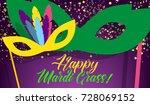 happy mardi gras carnival... | Shutterstock .eps vector #728069152