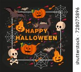 halloween typography design... | Shutterstock .eps vector #728075896