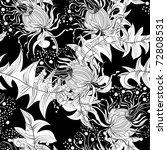 monochrome seamless wallpaper   Shutterstock .eps vector #72808531