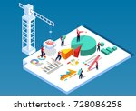 data engineering construction | Shutterstock .eps vector #728086258