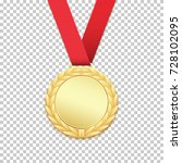 gold medal isolated on... | Shutterstock .eps vector #728102095
