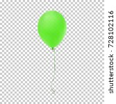 realistic green balloon... | Shutterstock .eps vector #728102116